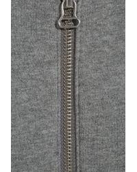 T By Alexander Wang Gray Cross-over Back Cotton-jersey Jacket