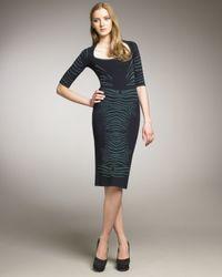 Zac Posen - Blue Animal-print Dress - Lyst