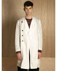 Dries Van Noten White Mens Royani Coat for men