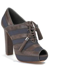 Juicy Couture | Brown Fredo - Frenchtaupe Suede Open Toe Bootie | Lyst