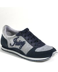 Juicy Couture | Gray Bosley - Regal Navy Suede Sneaker | Lyst