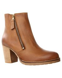 Kurt Geiger Brown Sweep Leather Ankle Boot Tan