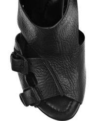 Alexander Wang Black Mia Leather Wedge Sandals