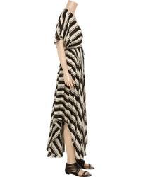 By Malene Birger Black Striped Cotton-blend Voile Maxi Dress