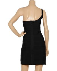 Hervé Léger | Black Melanie Beaded Bandage Dress | Lyst