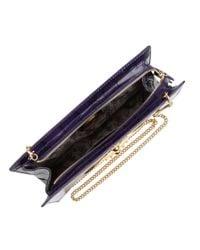 Vivienne Westwood Purple Ebury Crocodile Print Bag