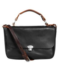 Ally Capellino Black Lorraine Mini Satchel Bag