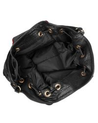 Collection Privée | Black Charcoal Baccy Leather and Wool Bucket Bag | Lyst