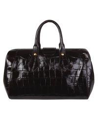 Vivienne Westwood Black Brown Ebury Crocodile Print Doctors Bag