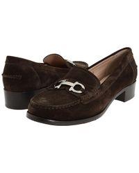 Ferragamo - Brown Casper Suede Loafer - Lyst