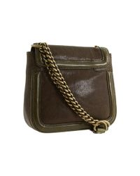 Olivia Harris | Brown Toggle Hinge Small Shoulder Crossbody | Lyst