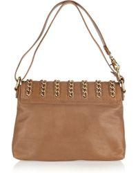 Tory Burch Brown Carson Messenger Leather Bag