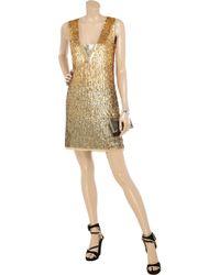 Tory Burch Metallic Panzi Sequined Dress