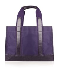 Tory Burch Purple Leather-trimmed Nylon Tote