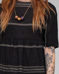 Ace & Jig   Black Button Mini Dress Batiste   Lyst