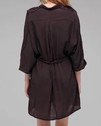 Cheap Monday   Brown Militaria Woven Pocket Shirt   Lyst
