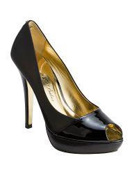 Ted Baker Zsofia Peep Toe Platform Court Shoes Black