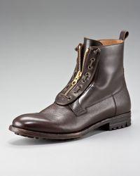 Alexander McQueen | Black Zip Front Boot for Men | Lyst