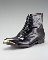 Alexander McQueen | Black Metal-toe Boot for Men | Lyst