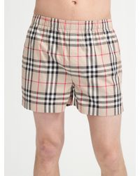 Burberry | Natural Check Boxers for Men | Lyst