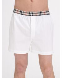 Burberry - Natural Check Boxers for Men - Lyst