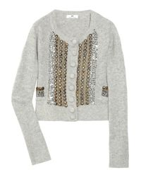 Day Birger et Mikkelsen - Gray Prettio Angora and Wool-blend Cardigan - Lyst