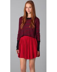 Dolce Vita | Red Baylee Striped Cropped Sweater | Lyst