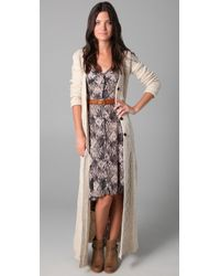 Free People - Natural Bobble Bee Maxi Cardigan - Lyst