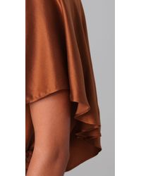 Halston | Metallic One Shoulder Tiered Top | Lyst