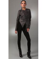 Kimberly Ovitz | Gray Balthazzar Leather Jacket | Lyst