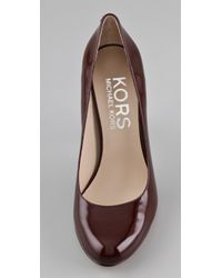 Kors by Michael Kors - Purple Patent Leather Pumps - Lyst