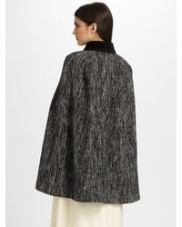 MILLY | Black Zip-Front Lace Jacquard Jacket | Lyst