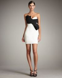 Notte by Marchesa | White Bow-front Contrast Dress | Lyst