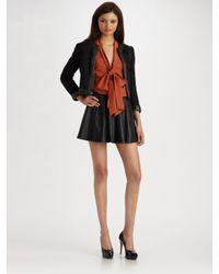 Parker - Black Leather Skirt - Lyst