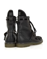 See By Chloé | Black Studded Buckle Boot | Lyst