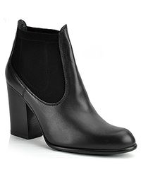 Stuart Weitzman | Held - Black Leather Ankle Bootie | Lyst