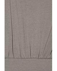 SuperTrash Gray Derange Jersey Dress