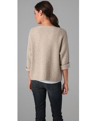 Vince - Natural Chunky Sweater - Lyst