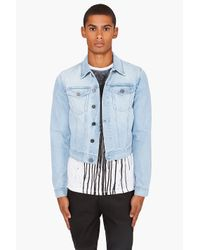 Acne Studios | Blue Steve Pearl Denim Jacket for Men | Lyst