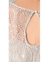 Alice + Olivia - Natural Eden Embellished Blouson Dress - Lyst