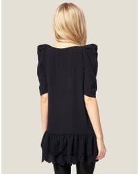 ASOS Collection - Natural Asos Petite Exclusive Mini Dress with Scallop Hem - Lyst