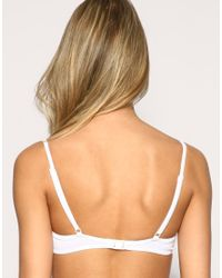 ASOS Collection White Asos Mix and Match Moulded Tie Front Bikini Top