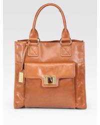 Badgley Mischka | Brown Petra Leather Tote Bag | Lyst