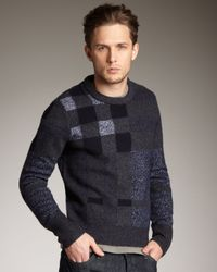 Burberry Brit Blue Check Sweater for men