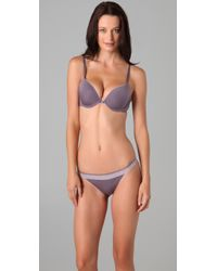 Calvin Klein - Gray Naked Glamour Cheeky Bikini Briefs with Lace - Lyst