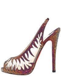 Christian Louboutin | Natural Maralena Flame Sandal | Lyst