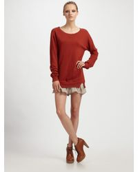 CLU | Natural Ruffle-hem French Terry Tunic | Lyst