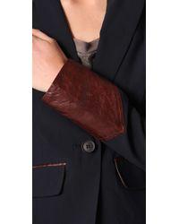 Elizabeth and James - Blue Ashford Leather-trim Blazer - Lyst