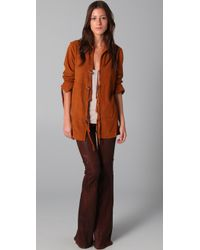 Elizabeth and James | Brown Suede Jacket with Fringe | Lyst