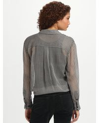 Equipment - Black Daddy Tie Front Blouse - Lyst